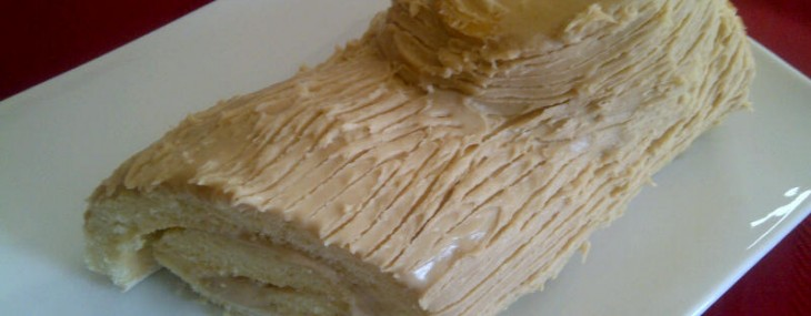 Buche de Noel with Browned Butter Salted Caramel Frosting