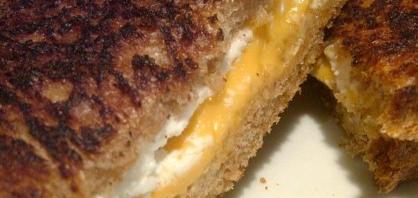 Boucheron and Sharp Cheddar Grilled Cheese