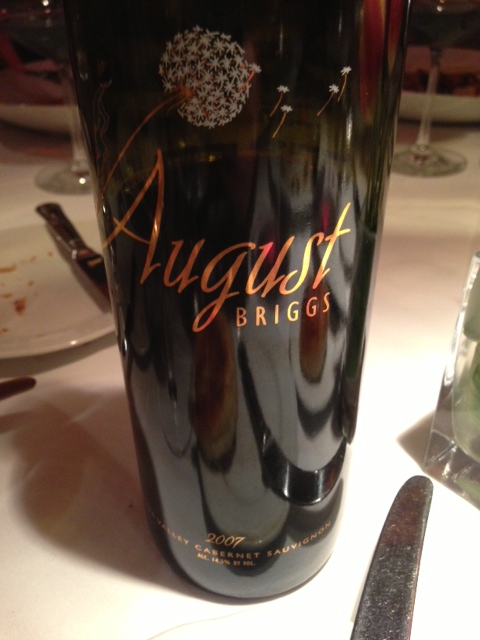2007 August Briggs Napa Valley Cabernet Sauvignon | Food & Wine Chickie Insider