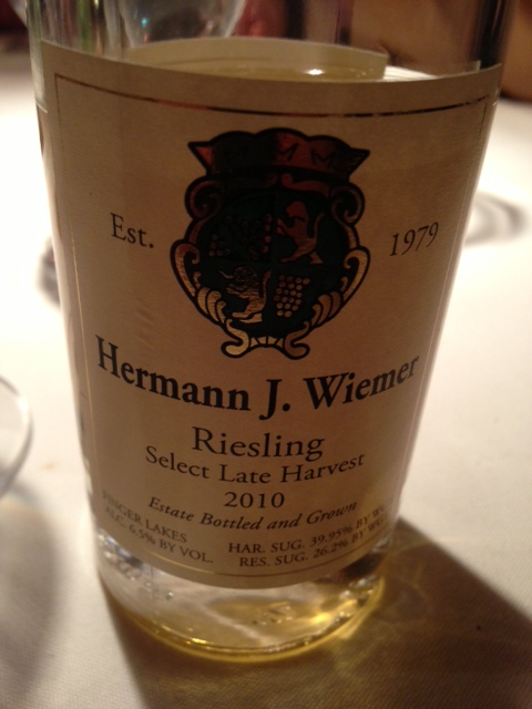 2010 Hermann J. Wiemer Select Late Harvest Riesling | Food & Wine Chickie Insider