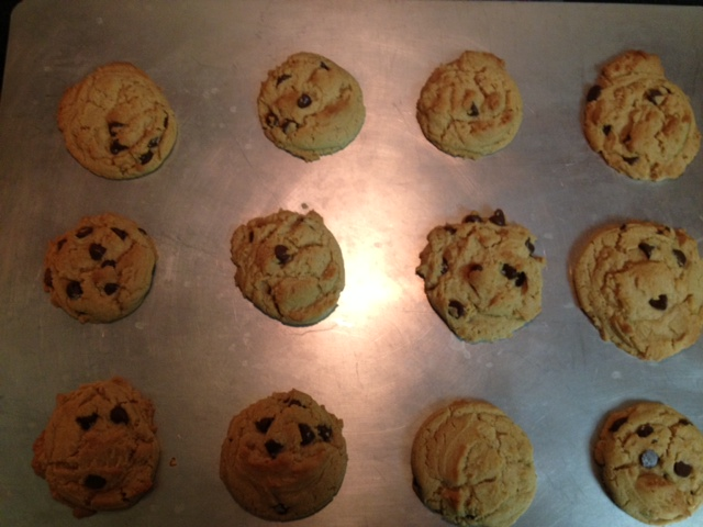 Inch Chocolate Chip Cookies