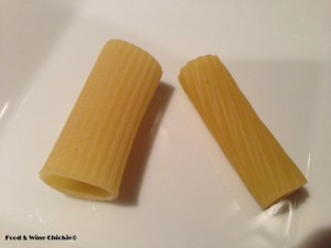 Pasta Comparison - Delverde on Left