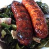 Collards and Sausages