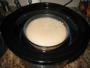 Oatmeal Cooking in Crockpot