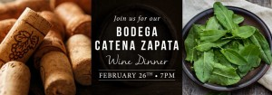Spuntino Catena Wine Dinner