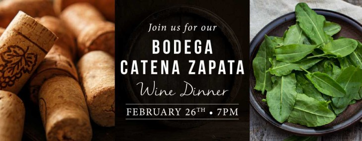 Bodega Catena Zapata Wine Dinner at Spuntino Wine Bar & Italian Tapas