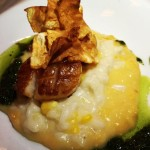Scallop Over Corn Risotto
