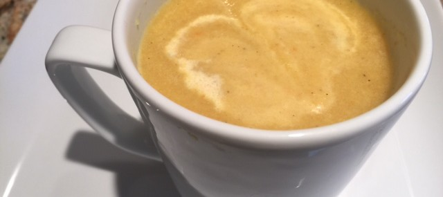 Tumeric, Cauliflower and Carrot Purée