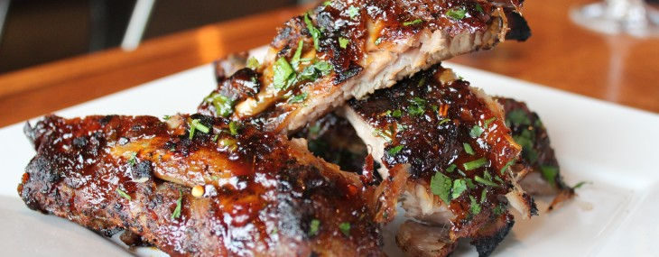 Baby Back Ribs with Balsamic BBQ Sauce