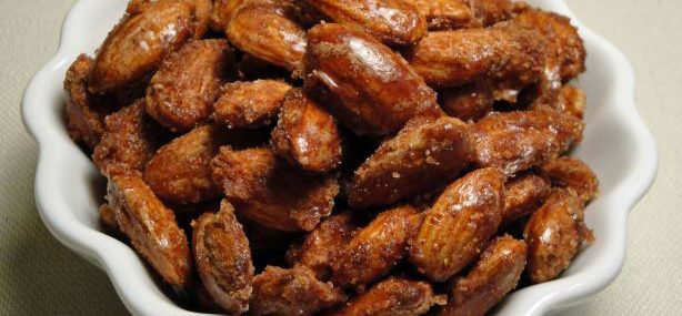 Maple Syrup Sugared Almonds