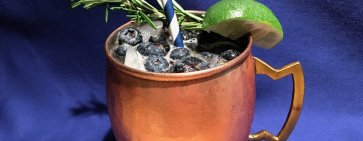 Blueberry & Rosemary Greek Mule