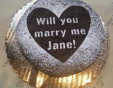 Popping the Question with Cake